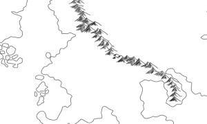 Beispiel für ein Gebirge auf der fertigen Karte