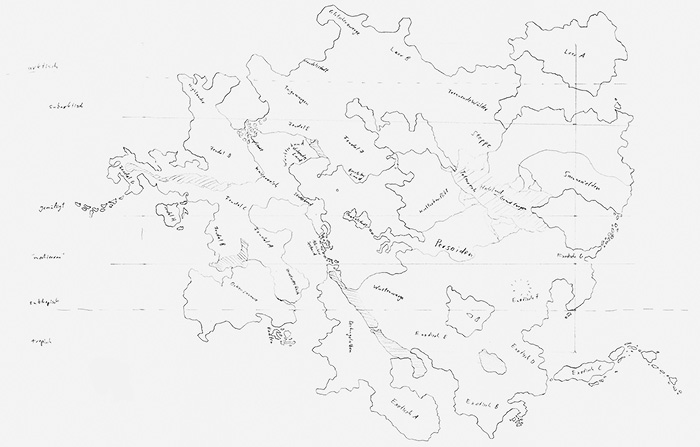 Die erste Version der Lorakiskarte