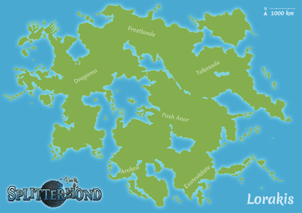 Lorakis-Karte mit Beschriftung