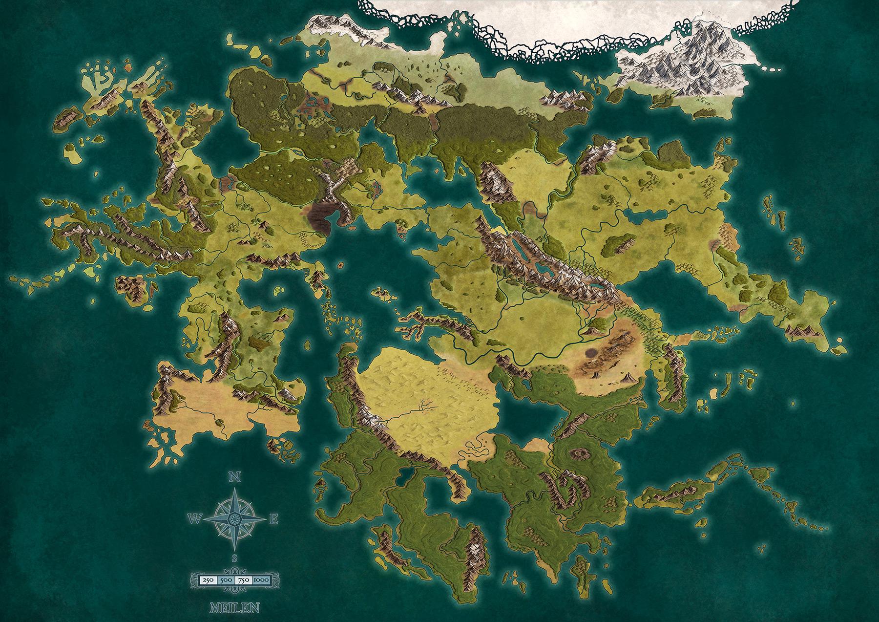 Naher Osten Karte Ohne Beschriftung.Ein Blick Auf Die Finale Lorakis Karte Splittermond