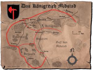 In-Game-Karte von Midstad