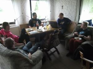 In mehreren Workshops wird geplant. Von links nach rechts: Christian Bender, Martin Schmidt, Sascha Hoppenrath, Tobias Hamelmann, Lars Reißig.