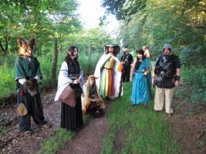 Eine wahrlich bunte Truppe auf dem Weg nach Andermark. Foto: Bernhard Wenzel