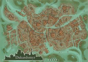 Dakardsmyr-Stadtkarte von Hannah Möllmann